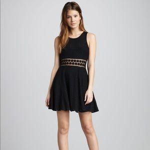 Free People Black Daisy Crochet Dress